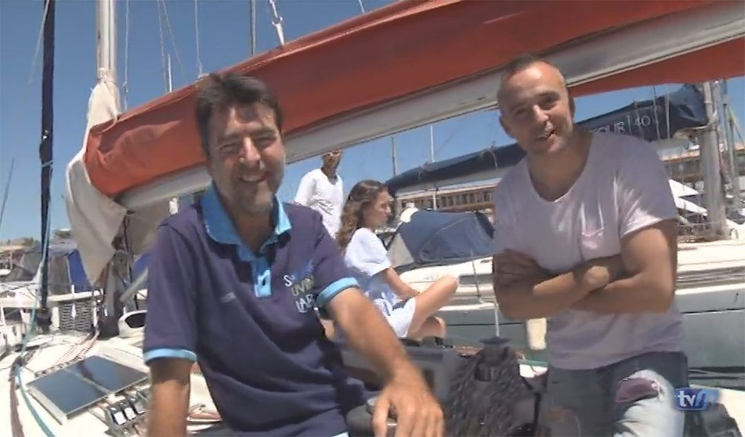 The media covers Acrobat´s crossing of Gibraltar Strait